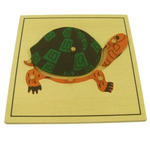 giáo cụ khoa học montessori - Ghép hình con Rùa- http://thientainhi.com/danh-muc-giao-cu-khoa-hoc-montessori/