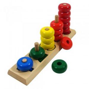 giáo cụ toán học Montessori - cột tính