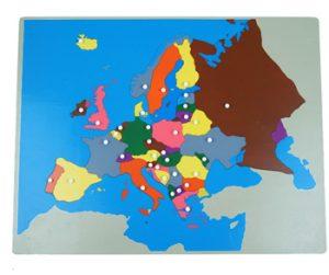 giáo cụ khoa học montessori - bản đồ châu Âu - http://thientainhi.com/danh-muc-giao-cu-khoa-hoc-montessori/