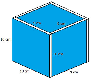 kích thước khối lập phương 10cm của tháp hồng