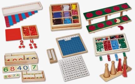 Lĩnh vực Toán học và danh mục các giáo cụ toán học Montessori